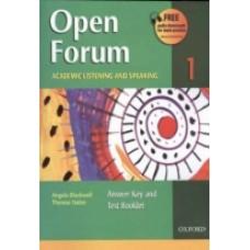 Open Forum 1 ACADEMIC FLISTENING AND SPEAKING