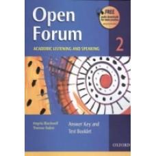 Open Forum 2 ACADEMIC FLISTENING AND SPEAKING